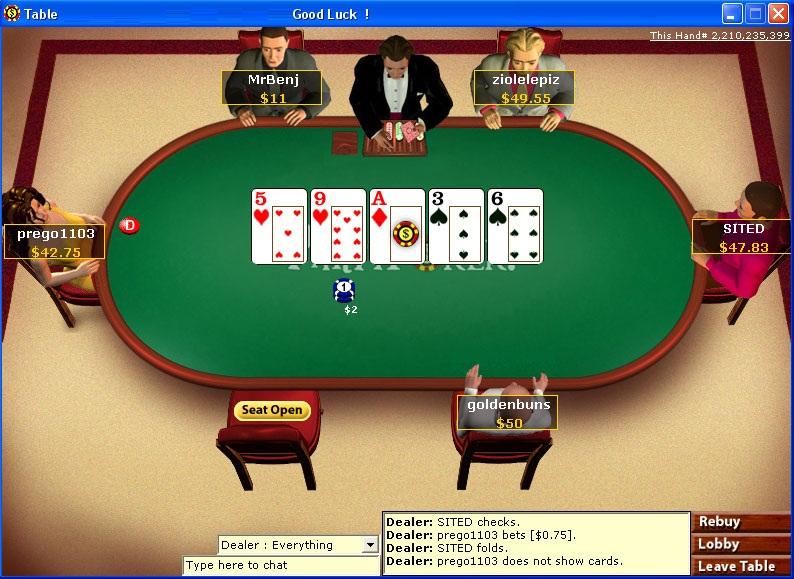Poker judi duit asli