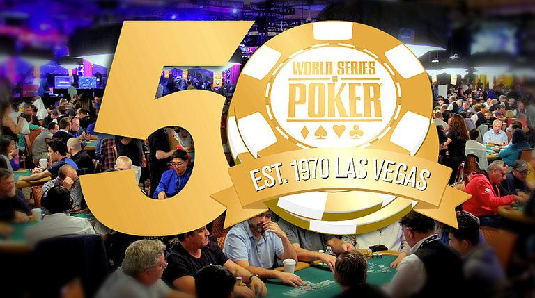 Old and New tournaments for the annual WSOP 50th